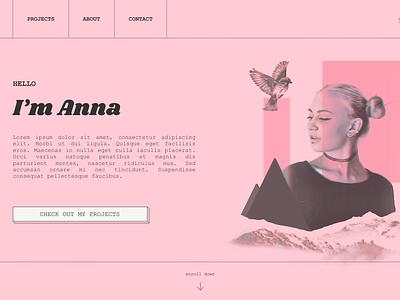 My Portfolio concept ux ui website builder webdesign website brutalist brutalism portfolio