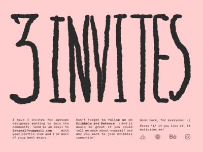 3x Invites
