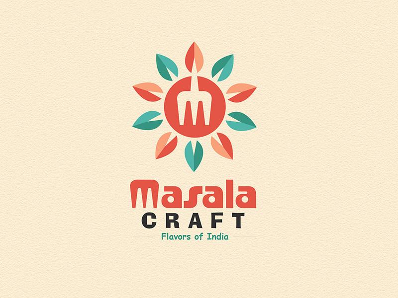 MasalaCraft Logo Desing logo design logo restaurant logo clean logo color full logo flat logo