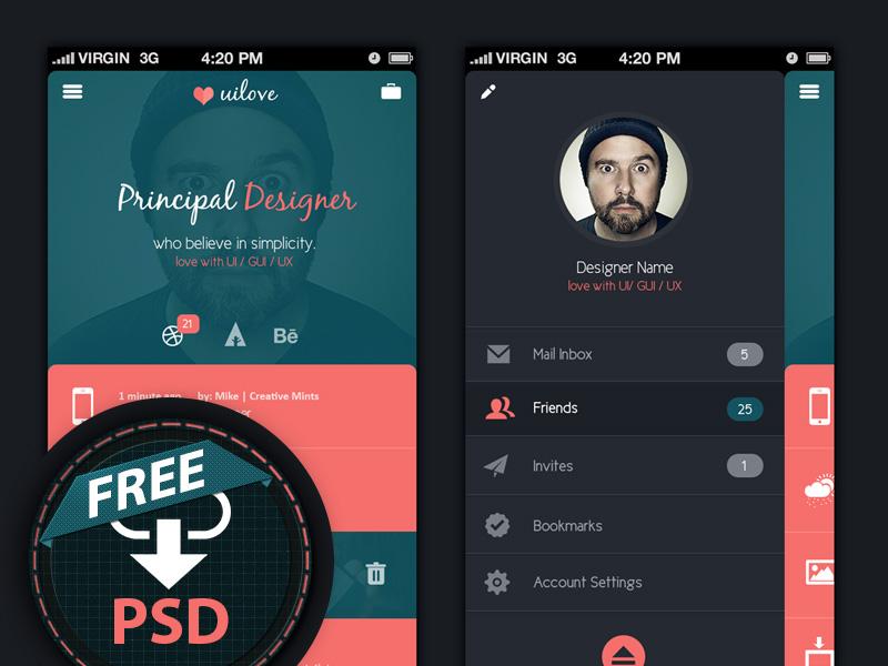 UI Design app design ui design clean ui metro ui free psd free mobile ui flat ui mobile app design freebie india