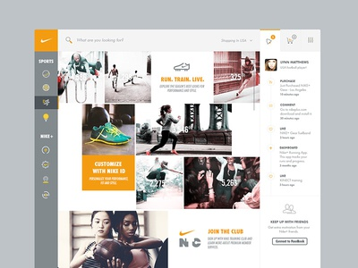 Nike UI / UX