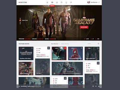 movie store - FREE PSD! user interface ui design template free freebie dashboard design uiux flat clean psd india
