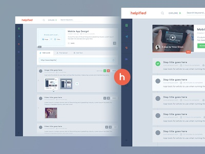 helpified user interface web ui template ux ipad interface icons education india