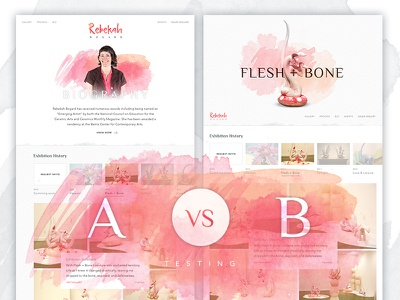 Artist Profile - A / B testing india layout web design icons ux water color ui design artist user interface