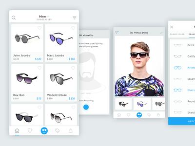 Sunglass App:  3d Virtual