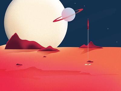 Ray Gun space texture design fun illustration