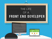 The Life of a Front End Developer / InfoGraphic