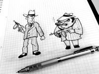 Gang Members pencil