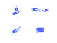 Fintech Icons desktop mobile app financial fintech ai sketch pack icons illustration