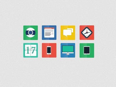 FREE PSD - Flat Icons flat icons psd apple desktop web download ui ux free