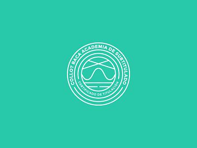 Collot Baca Subtitling Academy Badge identity logotype logo amazon hulu netflix mexico college wave subtitle academy school