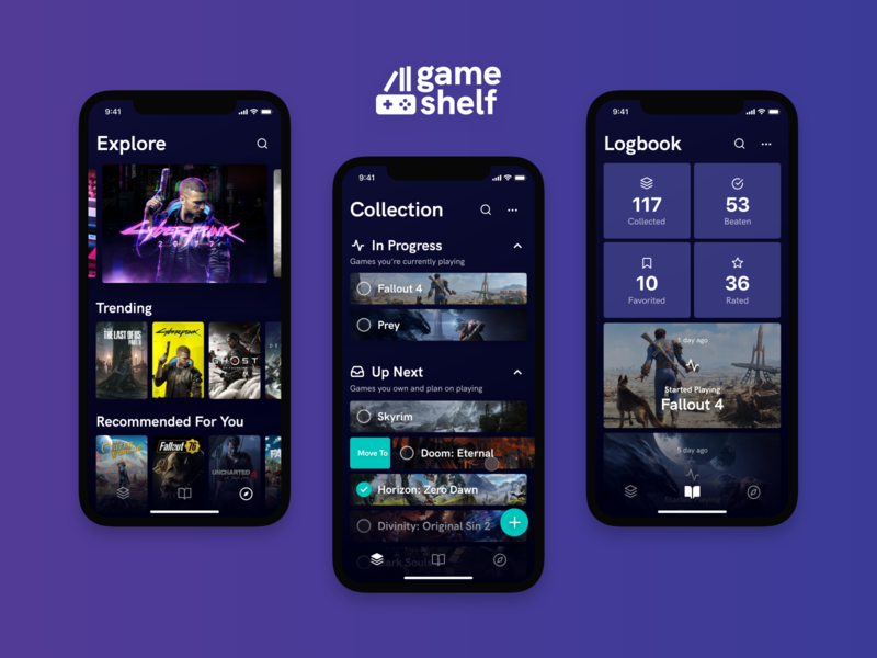 Game Shelf - A Gaming Backlog Manager for iOS iphone ios backlog video game game design app ux ui product interface