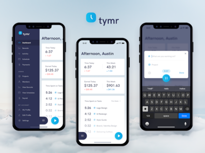 Tymr - Time Tracking iOS App Concept