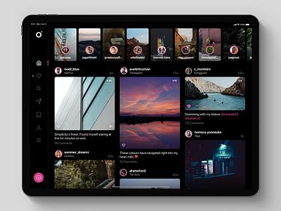iris - for Instagram ui ux product interface design ipad instagram dashboard app gram insta pro apple