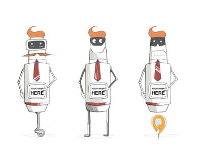 SPAM robot ideation sales spam annoying robot character design autodesk hand sketch illustration