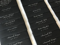 Black Tie Calligraphy