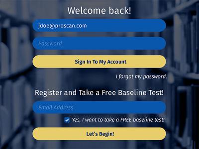 Login for Web App sign in register web app login