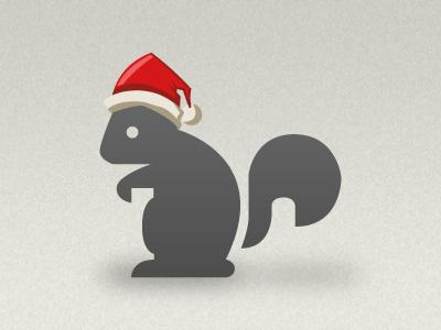 Santa Squirrel christmas santa squirrel