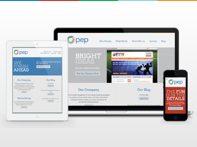 Pep's New Site responsive web b2b