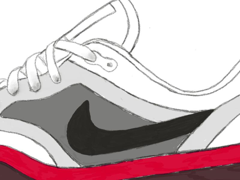 Air Max sketching sneakers nike