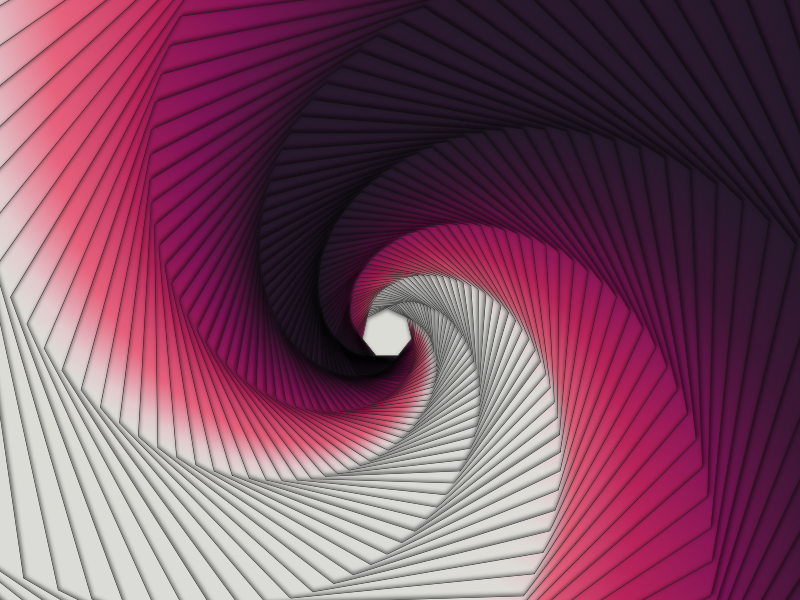"""Tunnel"" passive motion color theory pattern"