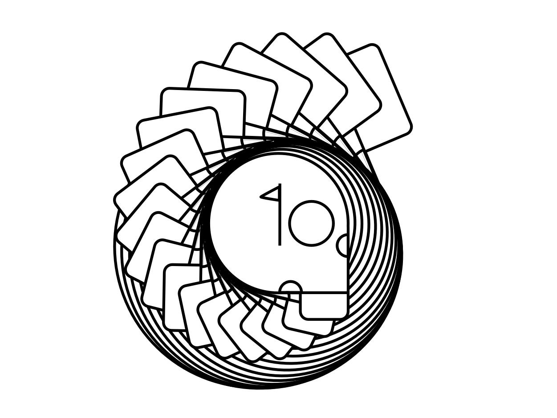Gooney Golfball logo design illustration passive motion identity brand branding and identity send it branding golf gooney