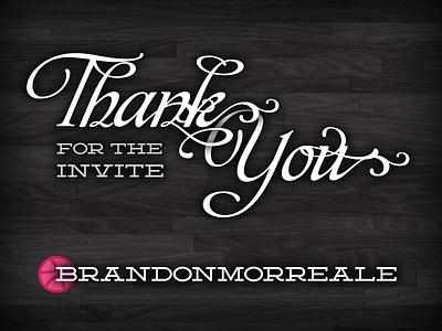 Thank You Brandon Morreale debut