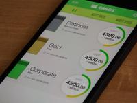 credit cards app design