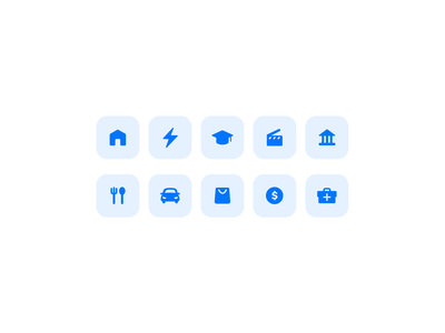 Icons - Expenses fintech expenses icons set iconography icons ui