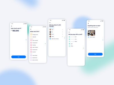 Expenses Tracker figma fintech tracking app expenses product design uiux