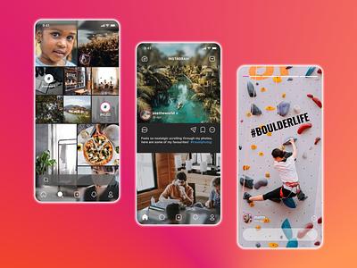 Instagram Reimagined interaction redesign product uiux reimagined interface instagram