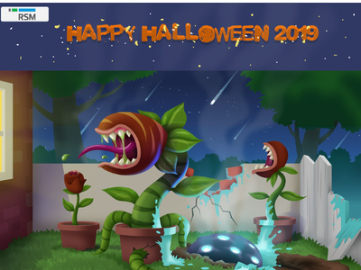 Happy Halloween 2019 - RSM poster art digital art art direction illustration illustration art