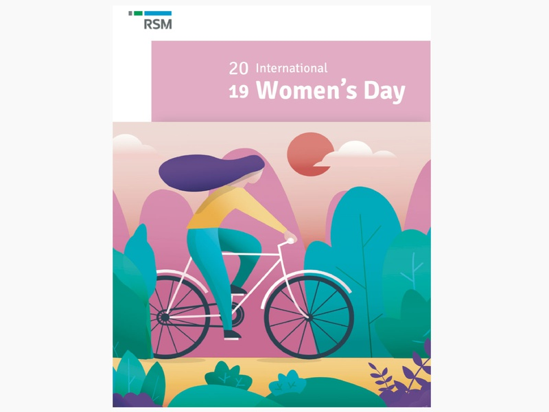 Happy Women's Day 2019 for RSM wishes branding design vector adobe illustrator illustration concept
