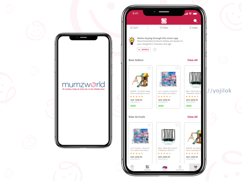 Mumzworld E-commerce Design Challenge ios ecommerce ecommerce design ecommerce app mobile adobe xd app design concept