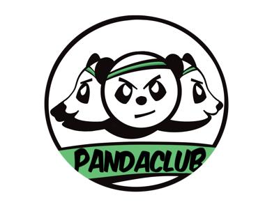Pandaclub logo logo procreate vector