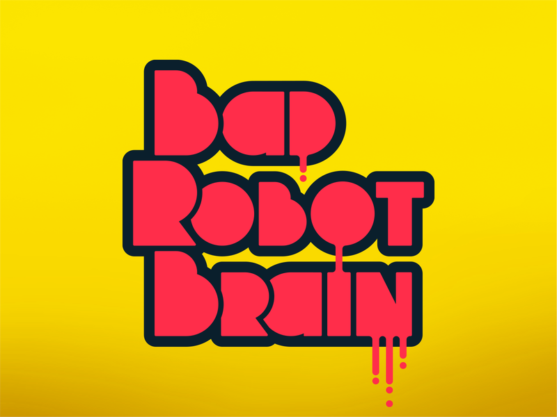 Bad Robot Brain Logo Update typography vector design branding logo