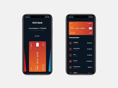 Credit card App UI uiux prototype protopie paypal money mobile ios interaction dashboard credit card cards banking app banking app design andorid protopie5.0 animation app ui design