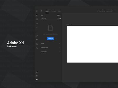 Adobe XD - Dark Mode (UI Concept) branding web user experience user interface interface typography illustration design free xd ux ui adobexd