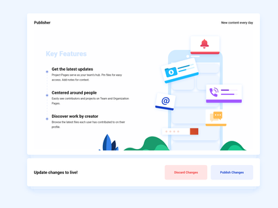 Key Features Web UI Concept V2 vector animation website web ux user experience ui site service minimal marketing illustration icon free flat digital design agency