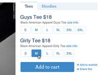 Threadless Shopping Module