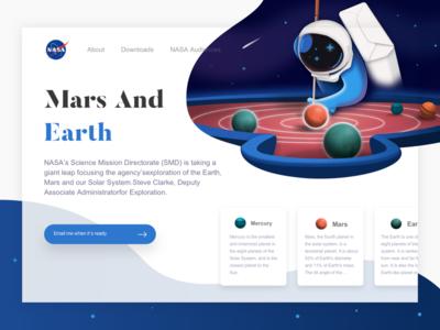 A webpage exercise on NASA