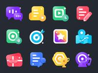 Education Icons 品牌 向量 education app education icon app 插图 颜色 设计 ui