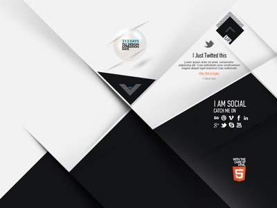 Personal Website Portfolio - First Approach - Footer design footer portfolio web design bw