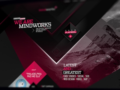 Mindworks New Website parallax animations html5 video case studies mindworks