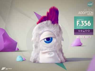 NAS4 - Alien Adoption Program 3d cartoon character hair fur alien cute