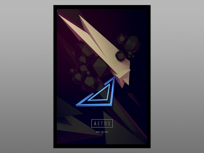 Aetos 3d eagle prey hunter abstract design print