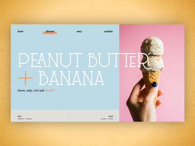 Ice Cream Website Mock Up colour store website ice cream minimal branding brand design experience interface ux ui