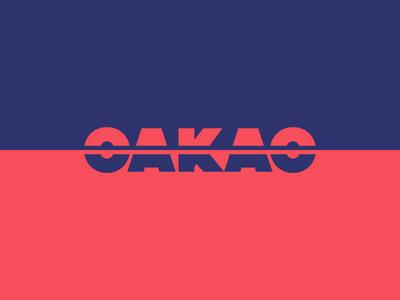 Daily Logo Challenge: Day 7 blue red illustration minimal dailylogochallenge oakao logo branding brand