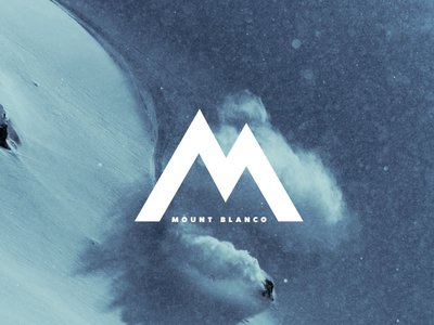 Daily Logo Challenge: Day 8 dailylogochallenge mount blanco skiing ski minimal design logo branding brand