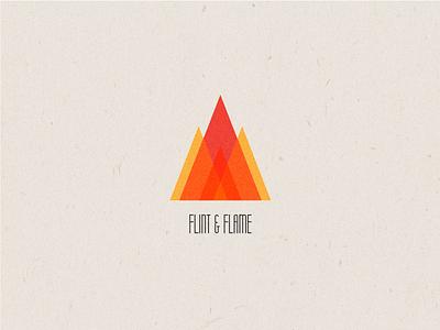 Daily Logo Challenge: Day 10 texture flint fire flame illustration design logo branding brand